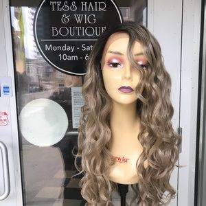 Accessories - Ash Blonde Wig Long Loose Curls Swisslace Wig